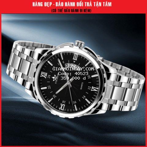 Đồng hồ Nam_Fourron Sang trọng, lịch lãm_Đồng hồ thời trang, Đồng hồ dây thép_không gỉ