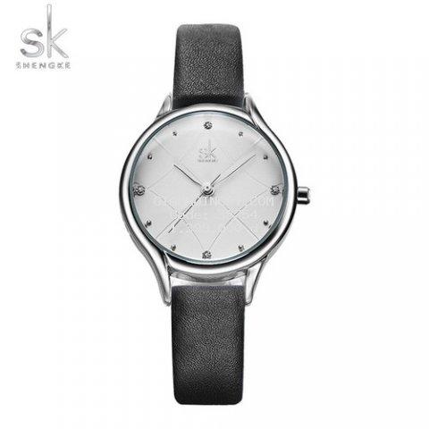 Đồng hồ nữ Chính Hãng Shengke Korea K8013L-07 Đen