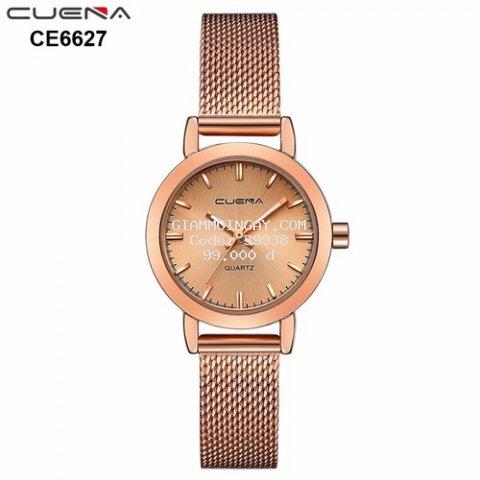 Đồng hồ nữ CUENA dây thép lụa sang trọng AH-CE6627