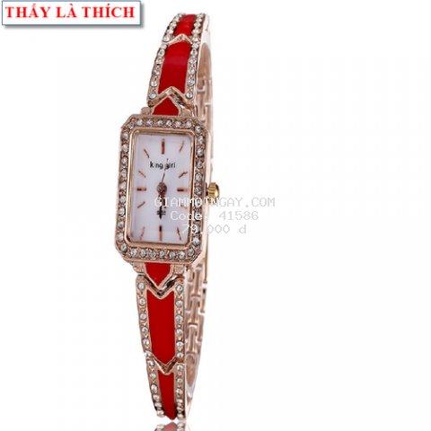 Đồng hồ Nữ lắc tay mặt vuông xinh xắn