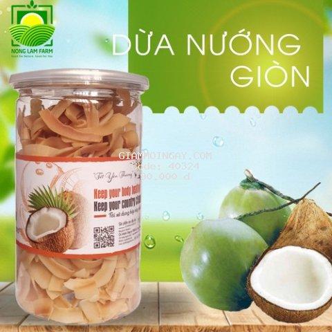 Dừa Nướng Giòn Nông Lâm Food - Crispy baked coconut - Món Ăn Vặt Tuyệt Vời