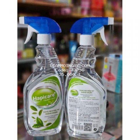 Dung dịch rửa tay sát khuẩn Hapicare+ chính hãng cao cấp / khử khuẩn, khử mùi , không gây hại da, không hôi cồn /