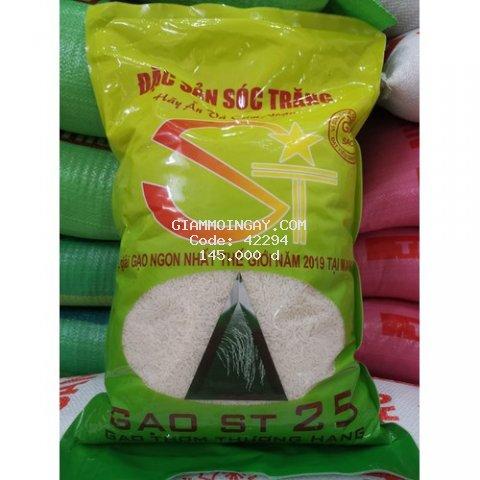 Gạo đặc sản ST25 dẻo mềm túi 5 kg