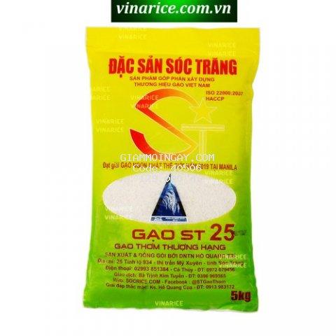 Gạo ĐSST ST25 túi 5kg - tự hào gạo Việt Nam ngon nhất thế giới