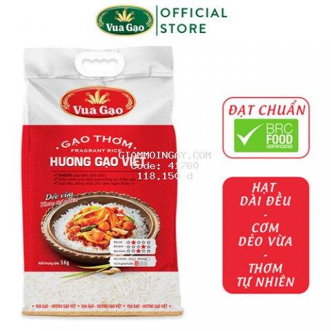 Gạo Hương Việt - Túi 5kg - Cam kết date mới