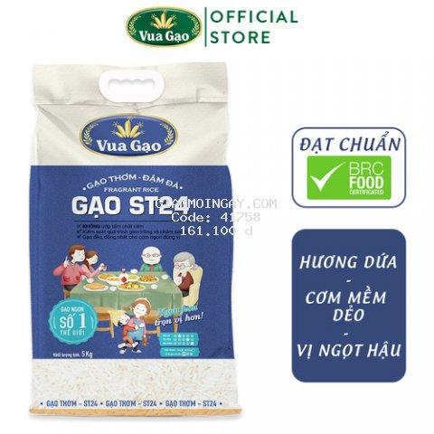 Gạo ST24 Đậm Đà - Túi 5kg - Cam kết date mới
