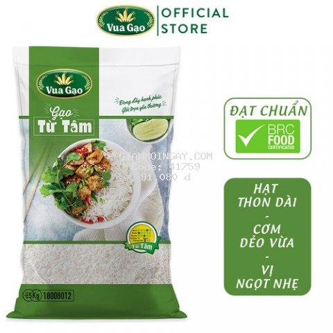 Gạo Thơm Từ Tâm - Túi 5Kg - Cam kết date mới