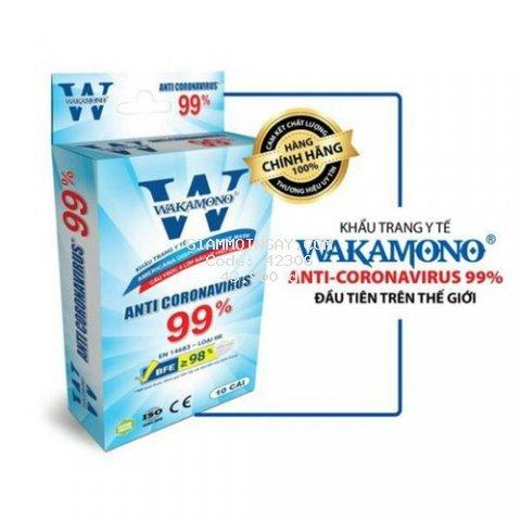 Hộp 10 Khẩu Trang Y Tế 4 Lớp Wakamono