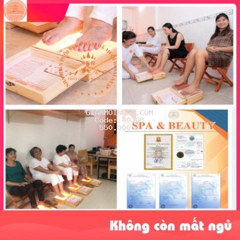 Hộp Đèn Đá Muối Himalaya Massage Chân Vòm 2 Viên - Đá Muối Himalaya S&B