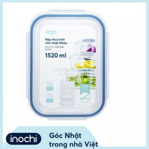 Hộp thuỷ tinh chữ nhật Nikko 1520 ml