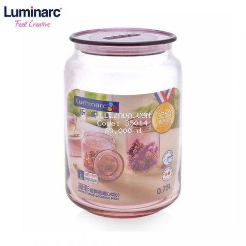 Hũ thủy tinh Luminarc RONDO ICE PINK 1L- L0365