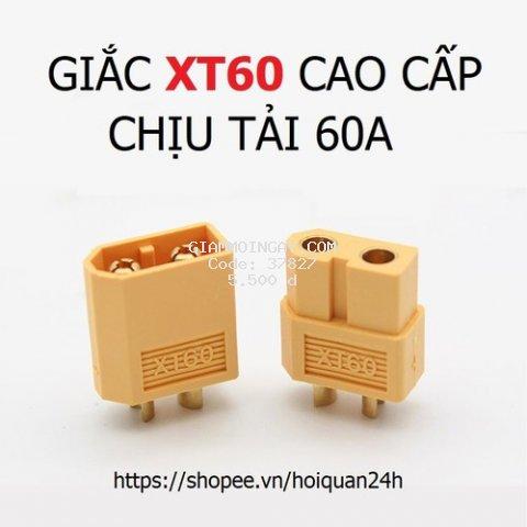 Jack XT60 giá rẻ Đồng nguyên chất chịu tải 60A, Giắc XT60