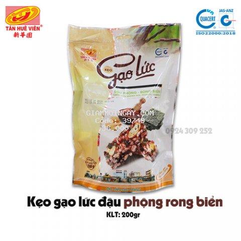 Kẹo Gạo Lức Đậu phộng Rong biển Tân Huê Viên