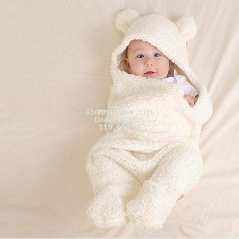 Khăn quấn em bé-chăn ủ kén sơ sinh-khăn choàng quấn sơ sinh