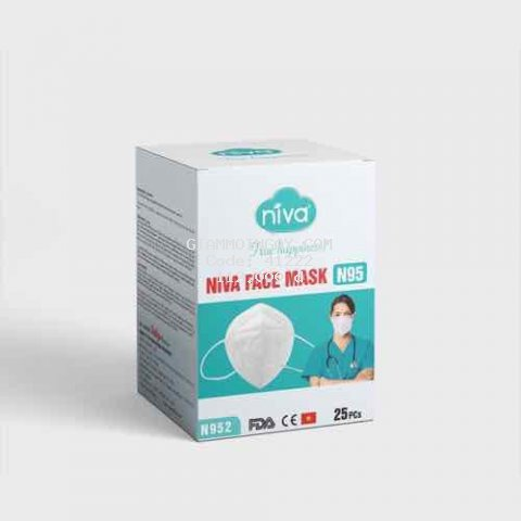 Khẩu Trang 3D Niva N95 hộp 25c