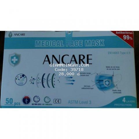 Khẩu trang y tế kháng khuẩn 4 lớp VN hộp 50 cái