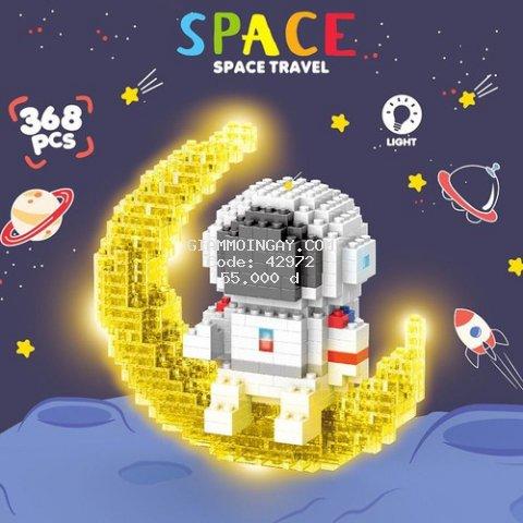 Lego nano ráp hình phi hành gia có đèn 3 chế độ