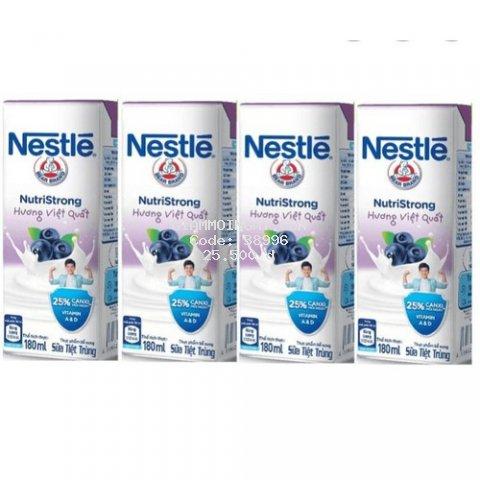 Lốc 4 hộp sữa nước Nestle 180ml vị việt quất[ date mới]