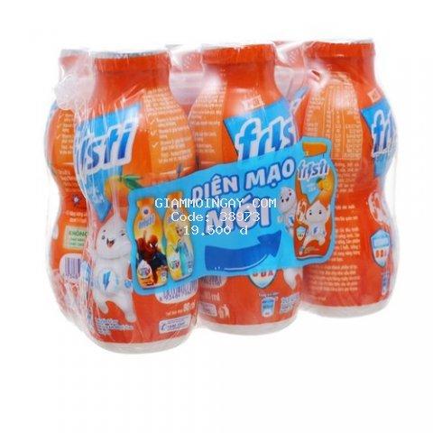 Lốc 6 chai sữa chua uống fristi 80ml hương cam[date mới]
