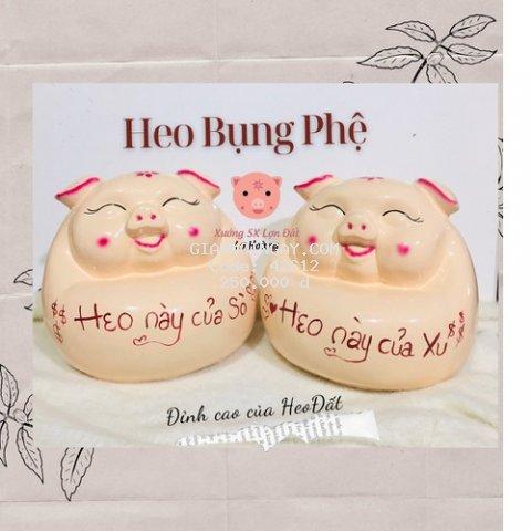 Lợn Đất Tiết Kiệm Heo Bụng Phệ
