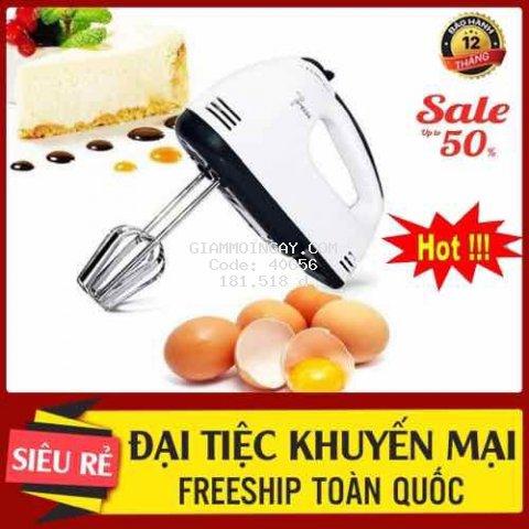 Máy đánh trứng, đánh kem  với 7 tốc độ 380w hàng cao cấp bảo hành 3 tháng đánh kem, đánh bột