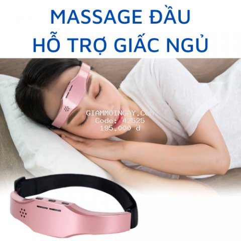 Máy massage đầu thông minh, hỗ trợ giấc ngủ