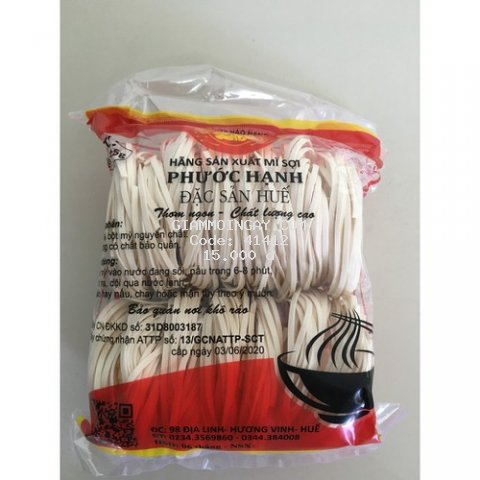 Mì vắt đặc biệt Phước Hạnh dùng để nấu bánh canh sợi dai hạn sử dụng luôn mới gói 400g