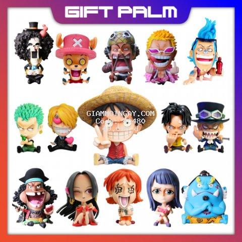 Mô Hình Chibi các nhân vật One Piece Mô Hình Băng mũ rơm Luffy , ACE , Sabo Thất Vũ Hải Tượng Figure