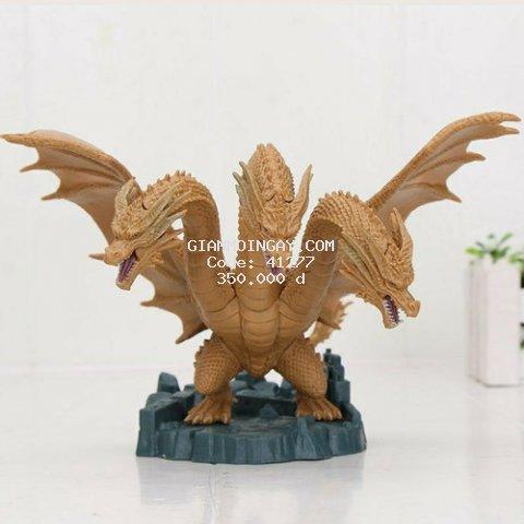 mô hình đồ chơi khủng long Godzilla. rồng 3 đầu King Ghidorah 2019.