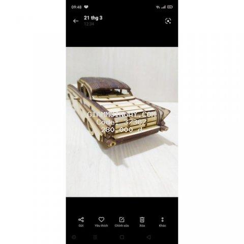mô hình gỗ 3D chiếc ôtô