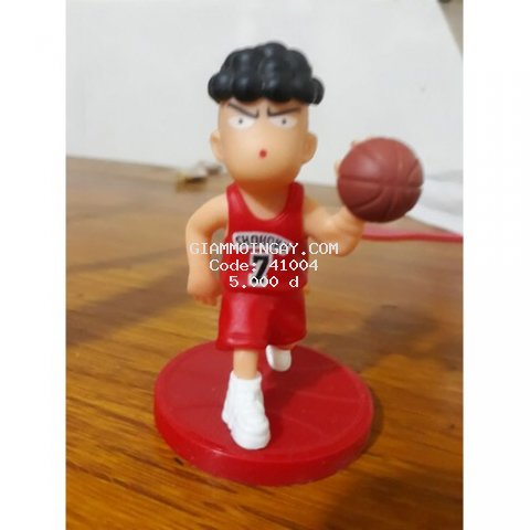 mô hình nhân vật chơi bóng rổ làm từ nhựa- có thể rút ra lắp vào