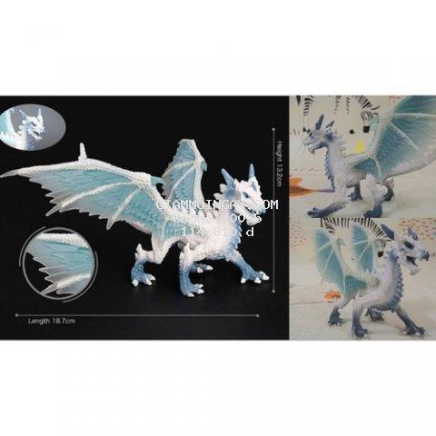 Mô Hình Quái vật Rồng băng trắng 18cm Sinh Vật Thần Thoại  Warcraft  Ice Dragon [Đồ Chơi 24/7]