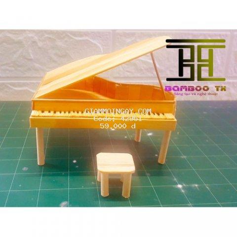 Mô hình Tăm tre handmade mẫu 08 piano