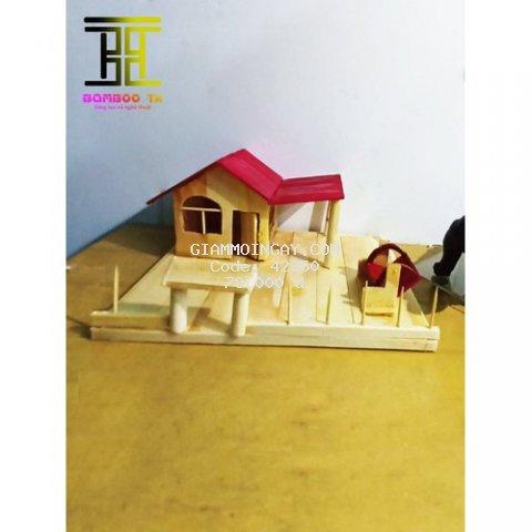 Mô hình Tăm tre handmade Quà tặng ý nghĩa mẫu 2909