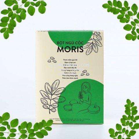 Ngũ Cốc Chùm Ngây MoriS - không đường - hộp - 400g- ăn kiêng/mẹ và bé/ ăn chay/ thực dưỡng