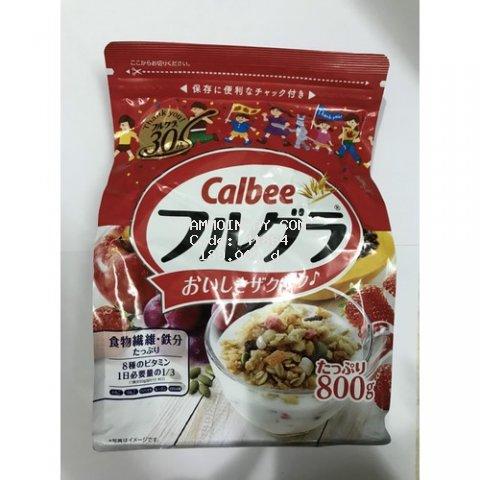 Ngũ cốc dinh dưỡng vị trái cây Nhật Bản Calbee Đỏ 800g