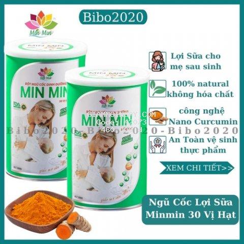 Ngũ Cốc Lợi Sữa,Minmin,Dinh Dưỡng Sau Sinh 30 Vị Hạt( 2 hộp) HỖ trợ phí vận chuyển