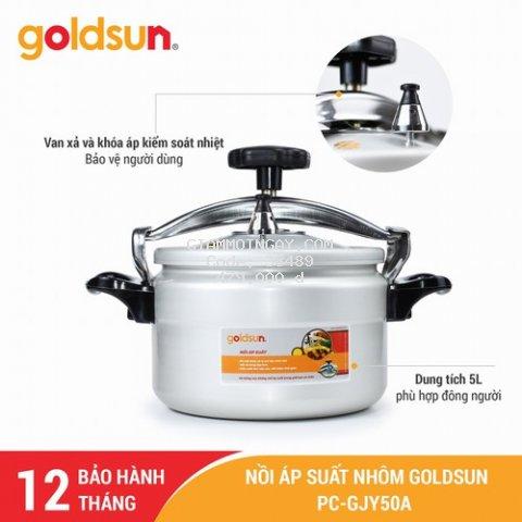 Nồi áp suất Gas Goldsun  5 lít PC-GJY50A - Bảo hành 12 tháng