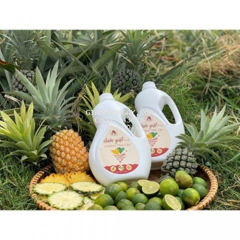 Nước giặt An An 2.2 lít,100% hữu cơ an toàn cho mọi làn da từ  Enzym bồ hòn, vỏ cam, vỏ dứa