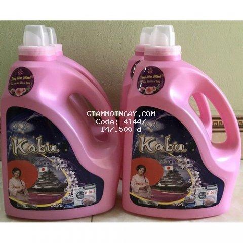 Nước giặt đậm đặc Kabu 6 in 1 hương Cá Ngựa 4,5 Ít ( tặng 200ml)