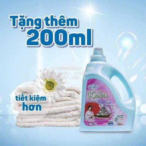 Nước giặt đậm đặc Kabu 6in1 hương Vani Pink 4,5 Lít ( tặng 200ml)