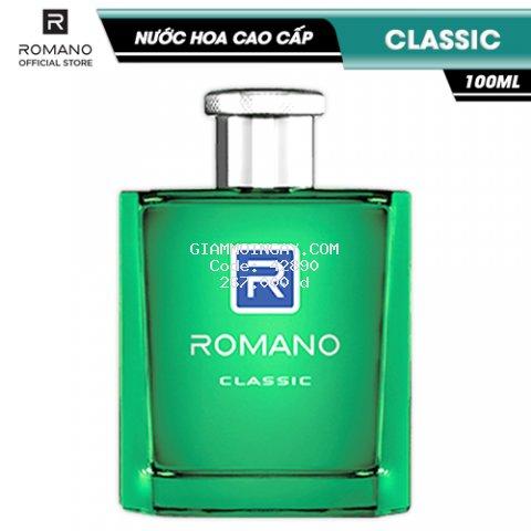 Nước hoa Romano Classic cổ điển lịch lãm hương nam tính 100ml