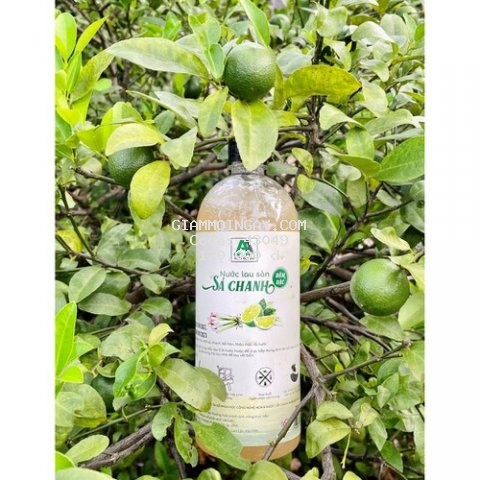 Nước lau sả chanh đậm đặc 1 lít  xua đuổi muỗi và côn trùng vơi tinh dầu Sả chanh AN AN 100% thảo mộc