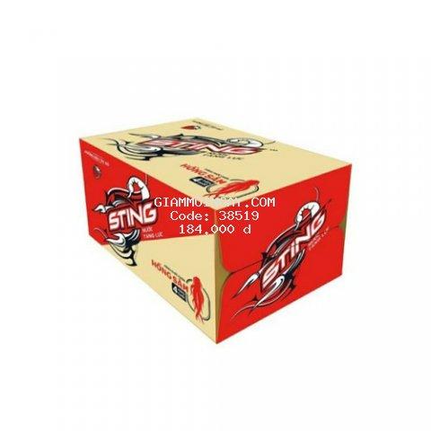 Nước tăng lực sting dâu pet 330ml (thùng 24 chai)