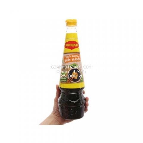 Nước tương đậu nành Maggi nắp vàng chai 700ml