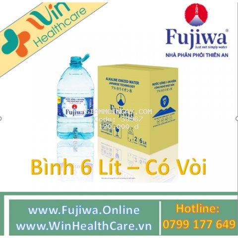 Nước uống ion kiềm Fujiwa 6L- 2 Bình/Thùng (Có vòi)