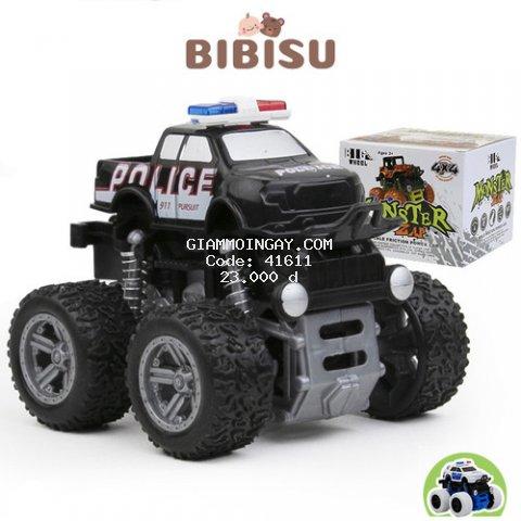 Ô tô đồ chơi Monster, Ô tô cảnh sát địa hình, Ô tô chạy đà
