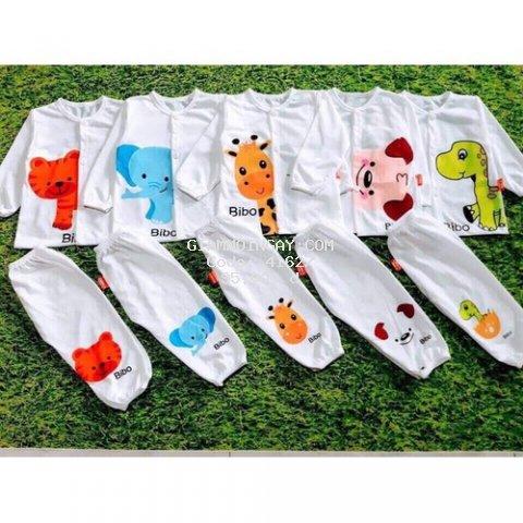 Quần áo trẻ em Combo 5 bộ  - Combo 5 bộ  quần áo cho bé thun cotton dài khuy
