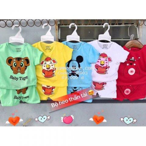 Quần áo trẻ em Combo5bộ Tặng kèm yếm [HỖ TRỢ SHIP] - quần áo cho bé thun cotton cộc chui