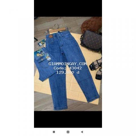 Quần jean nữ lưng cao co gian thoải mái 45-70kg